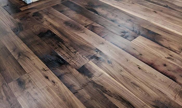 character grade walnut flooring with oil finish